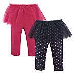Hudson Baby® Size 0-3M 2-Pack Tutu Leggings in Pink/Navy