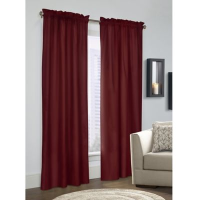 Prescott 45 Inch Rod Pocket Window Curtain Panel Pair In Burgundy