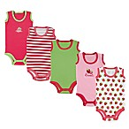 Luvable Friends® Size 6-9M 5-Pack Sleeveless Strawberry Bodysuits in Pink