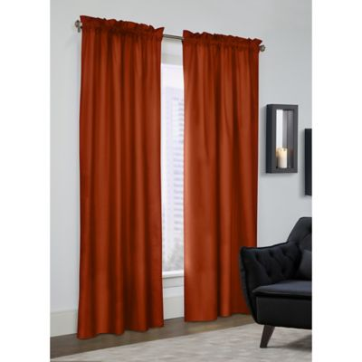 Prescott 63 Inch Rod Pocket Window Curtain Panel Pair In Spice