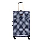 Jenni Chan Aria Stars 28-Inch Upright Spinner Suitcase in Black/White