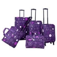 43d46805ca American Flyer Fireworks 5-Piece Luggage Set in Purple
