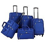 American Flyer South West 5-Piece Luggage Set in Cobalt