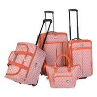 American Flyer 4-Piece Luggage Set in Orange