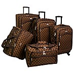 American Flyer Madrid 5-Piece Luggage Set in Brown