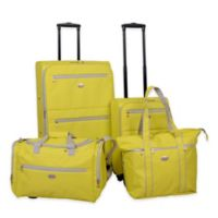 American Flyer Perfect 4-Piece Luggage Set in Yellow