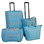 American Flyer Perfect 4-Piece Luggage Set in Turquoise