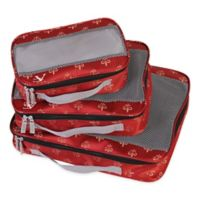 American Flyer Fleur de Lis 3-Piece Packing Organizer Set in Red