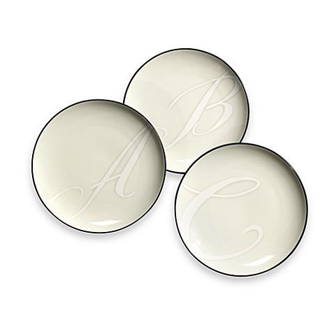 noritake colorwave monogram graphite accent plates - Noritake Colorwave