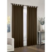 Prescott 63-Inch Tab Top Window Curtain Panel Pair in Chocolate