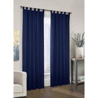 Prescott 84-Inch Tab Top Window Curtain Panel Pair in Navy
