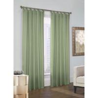 Prescott 63-Inch Tab Top Window Curtain Panel Pair in Sage