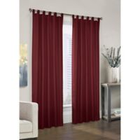 Prescott 63-Inch Tab Top Window Curtain Panel Pair in Burgundy