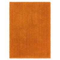 Linon Home Copenhagen 1'10 x 2'10 Shag Accent Rug in Orange