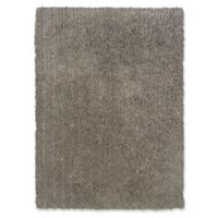 Linon Home Copenhagen 5' x 7' Shag Area Rug in Grey