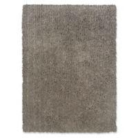 Linon Home Copenhagen 5' x 7' Shag Area Rug in Grey
