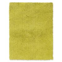 Linon Home Copenhagen 5' x 7' Shag Area Rug in Green