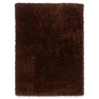 Linon Home Copenhagen 8' x 10' Shag Area Rug in Chocolate