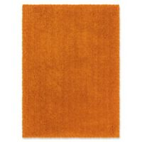 Linon Home Copenhagen 8' x 10' Shag Area Rug in Orange