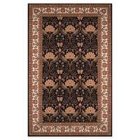 Momeni Persian Garden Ogee 2' x 3' Accent Rug in Charcoal