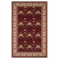 Momeni Persian Garden Ogee 3' x 5' Area Rug in Burgundy