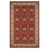 Momeni Persian Garden Ogee 3' x 5' Area Rug in Salmon