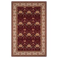 Momeni Persian Garden Ogee 5' x 8' Area Rug in Burgundy