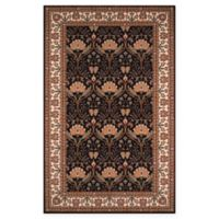 Momeni Persian Garden Ogee 8' x 10' Area Rug in Charcoal