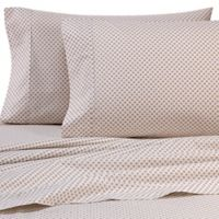 Heartland® HomeGrown™ 325-Thread-Count Cotton Percale King Flat Sheet in Geometric