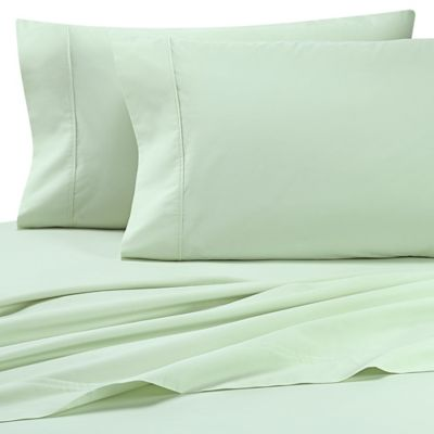 Heartland® HomeGrown™ 325 TC Cotton Percale Twin XL Fitted Sheet In Light  Green
