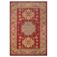 Momeni Ghazni Nature 5'3 x 7'6 Area Rug in Red