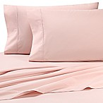 Heartland® HomeGrown™ 325-Thread-Count Cotton Percale Full Fitted Sheet in Pink