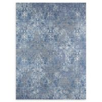 Momeni Petra Loomed 9' x 12' Accent Rug in Blue/Grey