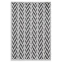 Momeni Platinum Loomed 5' x 7'6 Accent Rug in Silver