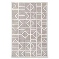 """Jaipur Cannon 7' 6"""" x 9' 6"""" Area Rug in Grey/White"""