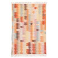 Jaipur Carver 2' x 3' Indoor/Outdoor Hand Loomed Accent Rug in Orange/Brown