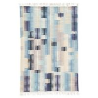 Jaipur Carver 5' x 8' Indoor/Outdoor Hand Loomed Area Rug in Blue/Grey