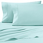Heartland® HomeGrown™  325-Thread-Count Cotton Percale Queen Flat Sheet in Aqua