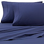 Heartland® HomeGrown™ 325-Thread-Count Cotton Percale Queen Flat Sheet in Navy