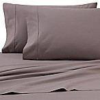 Heartland® HomeGrown™ 325-Thread-Count Cotton Percale Full Fitted Sheet in Grey