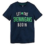 carter's® Size 24M  Let the Shenanigans Begin  Short Sleeve T-Shirt in Navy