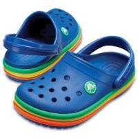 Crocs™ Size 7 Rainbow Band Classic Clog in Blue