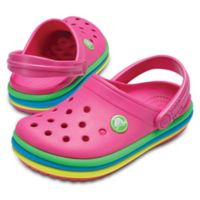 Crocs™ Size 4 Rainbow Band Classic Clog in Pink