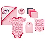 Hudson Baby® 9-Piece Butterfly Bath Gift Set in Pink