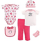 Hudson Baby® 6-Piece Floral Owl Layette Gift Set in Light Pink