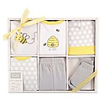 Hudson Baby® Size 0-3M 6-Piece Bee Layette Gift Set in White/Yellow