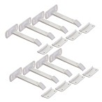 Dreambaby® 8-Pack Long Adhesive Safety Latches in White