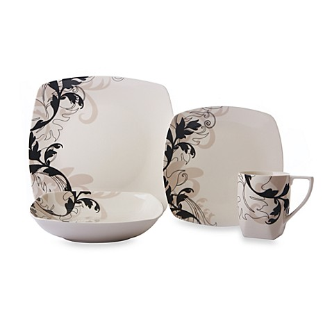 222 Fifth Avenue Modern Scroll Dinnerware Bed Bath Amp Beyond
