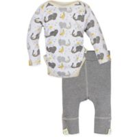 MiracleWear® Size 18-24M 2-Piece Posheez Snap 'n Grow Elephant Long-Sleeve Bodysuit and Pant Set