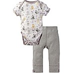 MiracleWear® Size 12-18M 2-Piece Posheez Snap 'n Grow Forest Owl Bodysuit and Pant Set in Grey